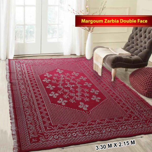 margoum-tapis-tunisie-modele-zarbia-rouge